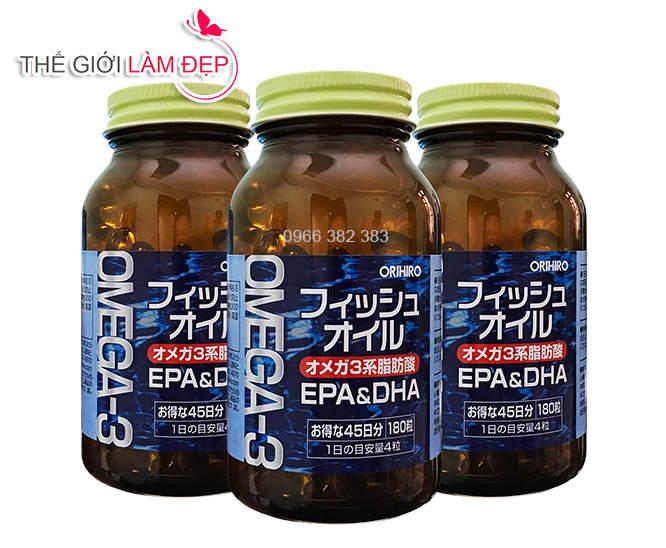 Dầu cá Omega-3 Orihiro 180 viên 1