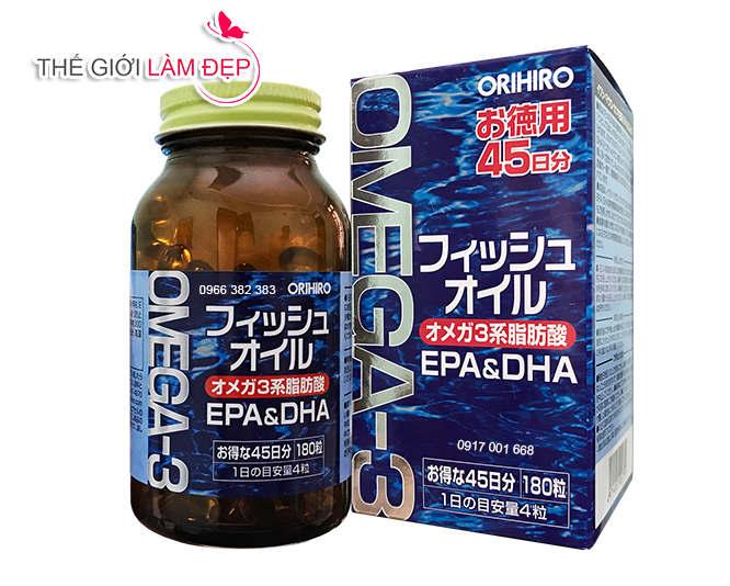 Dầu cá Omega-3 Orihiro 180 viên