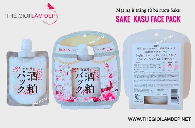 Mặt nạ bã rượu Sake Nhật Bản Sake Kasu Face Pack 02-1
