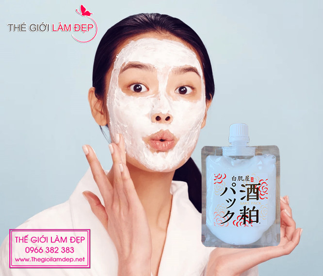 Mặt nạ bã rượu Sake Nhật Bản Sake Kasu Face Pack 03