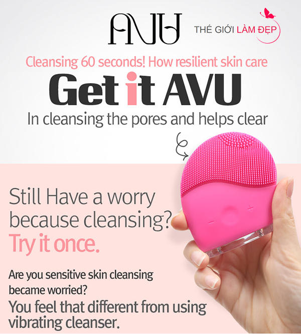 May rua mat AVU Soak Off Vibration Cleanser 1-1