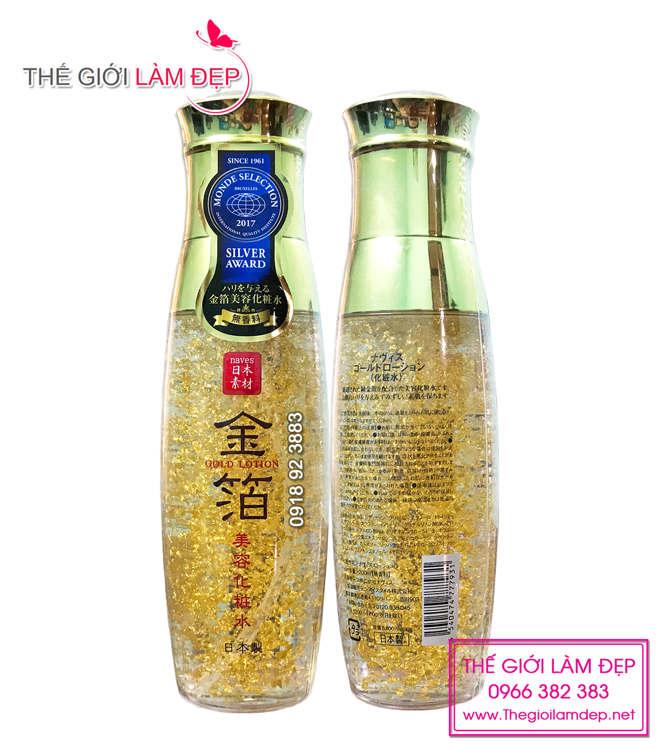 Naves Gold Lotion - Tinh chất dưỡng da vảy vàng 24k 3