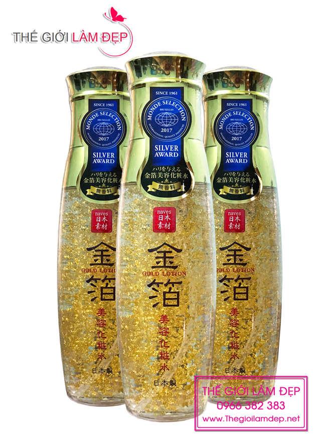 Naves Gold Lotion - Tinh chất dưỡng da vảy vàng 24k 5