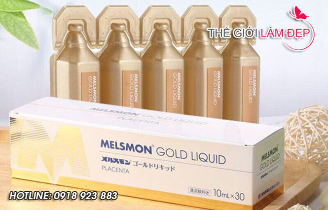 Nuoc uong nhau thai Melsmon Gold Liquid 3