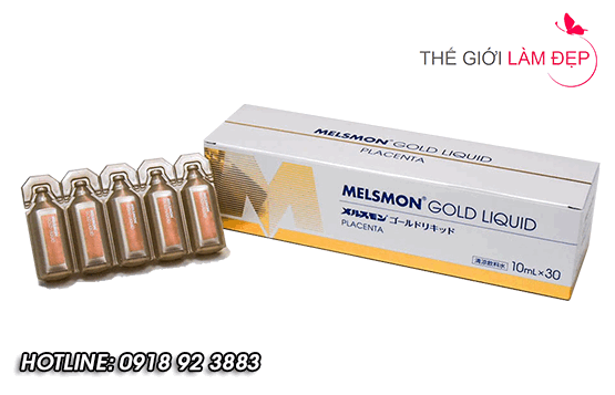 Nuoc uong nhau thai Melsmon Gold Liquid 5