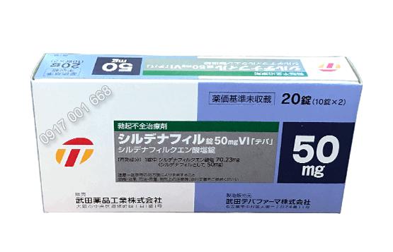 Thuốc cường dương Sildenafil 50mg VI TEVA Nhật Bản