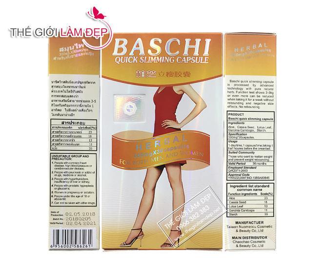 Thuốc giảm cân Baschi Thái Lan 2