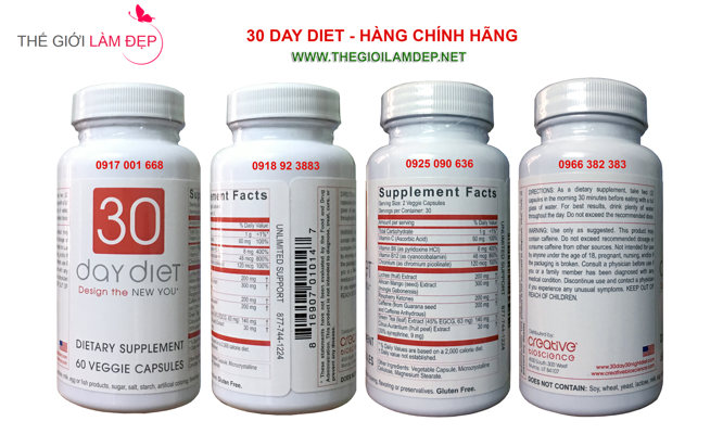 Thuoc giam can 30 Day Diet chinh hang 113