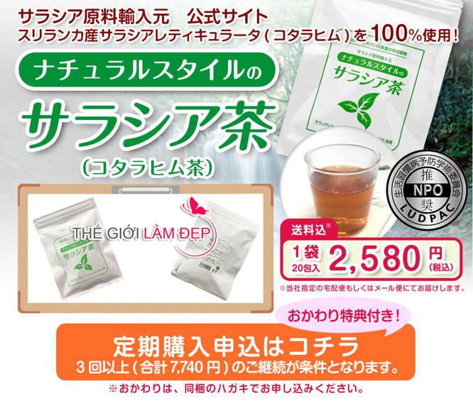 Trà tiểu đường Salacia Nhật Bản 1