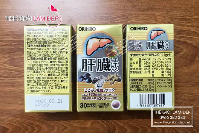 Viên bổ gan, thải độc gan Orihiro Nhật Bản (hộp 60 viên)-10