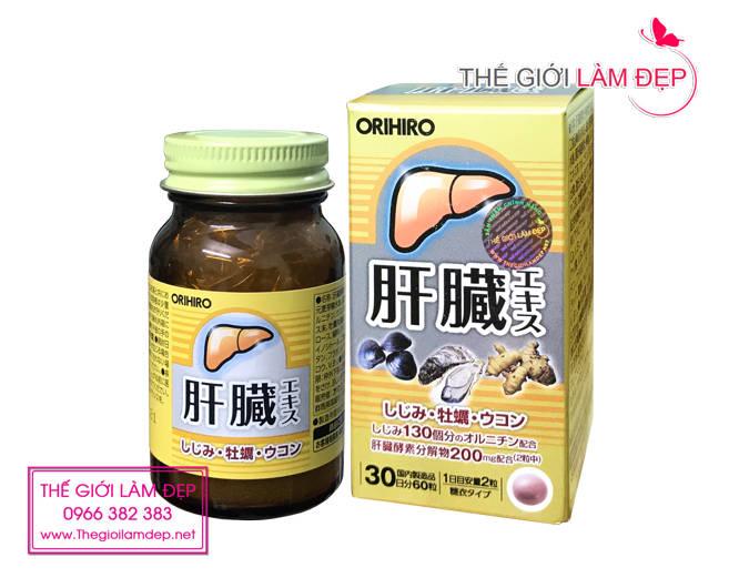 Viên bổ gan, thải độc gan Orihiro Nhật Bản (hộp 60 viên)-5