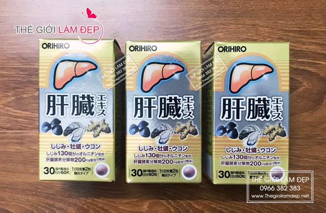 Viên bổ gan, thải độc gan Orihiro Nhật Bản (hộp 60 viên)-6