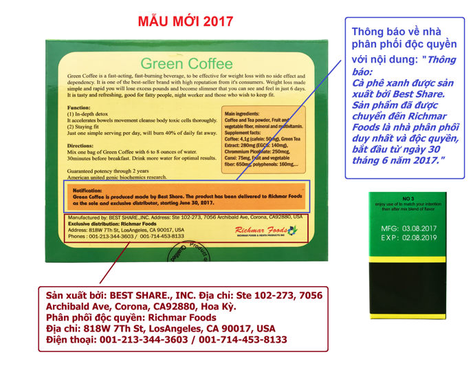 phan biet green coffee that va gia 105